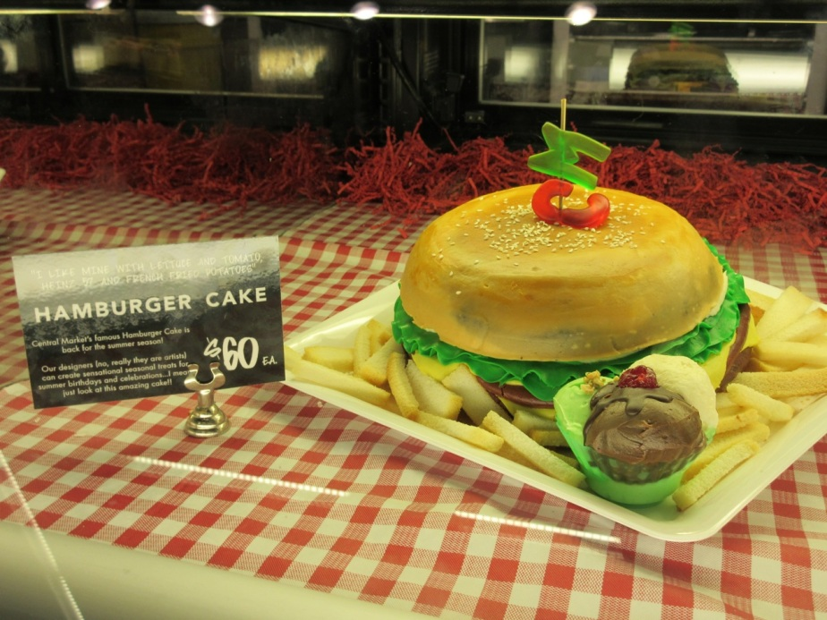 Hamburger Cake from Central Market