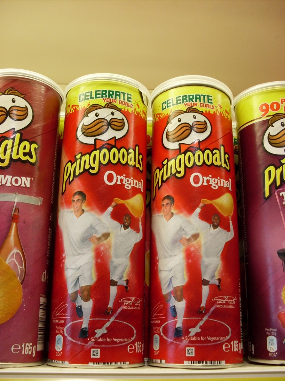 Soccer and world cup themed Pringles box