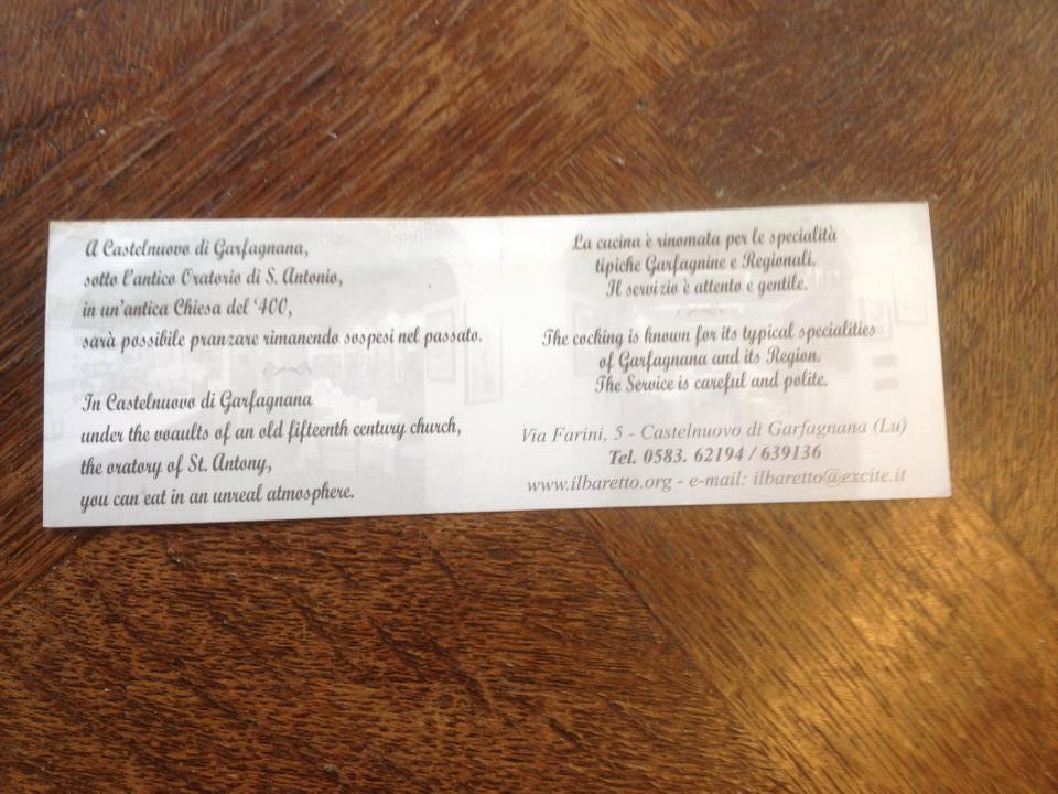 Italian restaurant ad