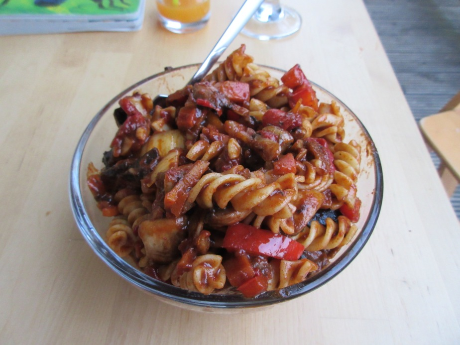 Leftover pasta surprise