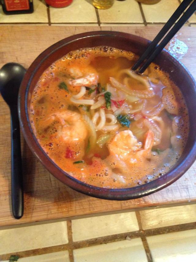 soup with taramasalata