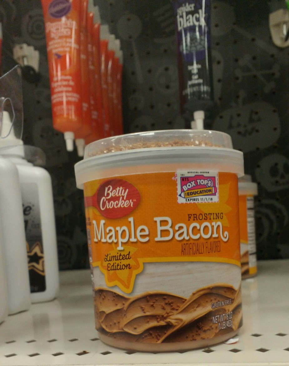 Maple Bacon Frosting (with bacon bits)